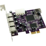 Sonnet Allegro Express 5 Port USB 2.0 Adapter - 4 x 4-pin USB 2.0 - USB External 1 x 4-pin USB 2.0 - USB Internal - Plug-in Card