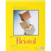 Pro-Art 457759 Strathmore Bristol Smooth Paper Pad 28cm . x 36cm . -20 Sheets