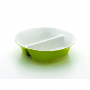 Rachael Ray Dinnerware Round and Square Collection 30cm Divided Dish, Green