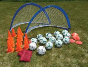 Olympia Sports KT135P Deluxe 2 Goal Value Pack-Size 5 Balls