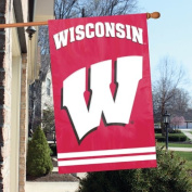 Party Animal AFWIS University of Wisconsin Badgers 2 Sided Large House Flag Banner