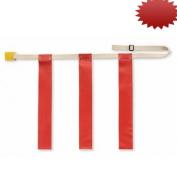 Triple Threat Flag Football Belts - Red