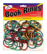 The Pencil Grip TPG189 Book Rings Assorted Colours 50Pk