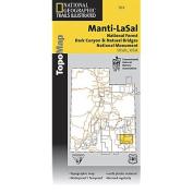 National Geographic TI00000703 Map Manti-LaSal National Forest - Utah