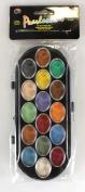 Yasutomo 368237 Pearlescent Watercolour Paint Cakes 16-Pkg-Assorted Colours