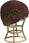 Nirvanna Designs CH75 Brown Crochet Flower Hat