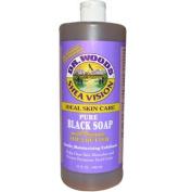 Organic Shea Butter Pure Black Castile Soap - 950ml - Liquid