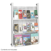 Safco Products Company SAF4134SL Magazine Rack- 9 Pockets- 31-.75in.x5in.x41in.- Silver