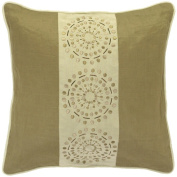 Surya PBST428C-1818D 18 in. x 18 in. Down Filled Decorative Pillows - Khaki and Tan