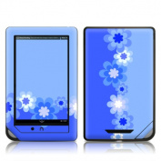 DecalGirl BNCR-RETROFLOWER-BLU DecalGirl Barnes and Noble NOOKcolor Skin - Retro Blue Flowers