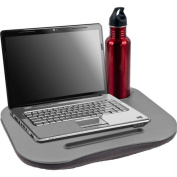 Laptop Buddy Gray Cushion Desk with Pen & Cup Holder