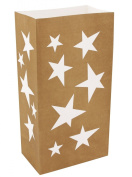 JH Specialties 44012 Luminaria Bags- Flame Resistant Stars- 12 Ct