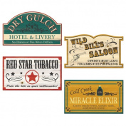 Beistle 54857 Old Style Western Sign Cutouts - Pack of 12