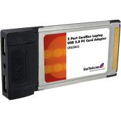 StarTech.com 2 Port Card Bus Laptop PC Card Adapter