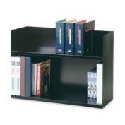 MMF Industries MMF26423BRBK Two Tier Book Rack- 29-.33cm .x10-.100cm .x50cm .- Black