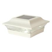 Classy Caps Mfg Inc SL214W 5X5 WHITE ALUMINUM IMPERIAL SOLAR POST CAP
