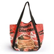 Blancho Bedding ABG-03031 Coffee Cake Eco Canvas Shoulder Tote Bag / Shopper Bag / Multiple Pockets