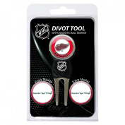 Team Golf NHL Detroit Red Wings Divot Tool Pack With 3 Golf Ball Markers