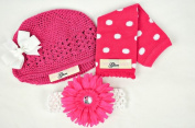 Puppy Luv Glam PLG1052_HotPink Leg Warmer Gift Set - Hot Pink