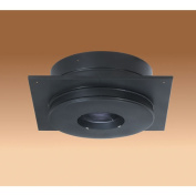 Chimney 69675 6 Inch Dura-Vent Dura/plus Round Ceiling Support Galvalume Painted Black Trim Collar Included