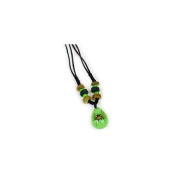 Ed Speldy East NEK103 Beaded Necklace - Spiny Spide with Green Background