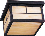 Maxim Lighting 4059HOBU Coldwater 2-Light Outdoor Ceiling Mount - Burnished