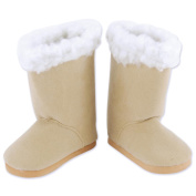 Springfield Collection Sherpa Trim Boots-Tan