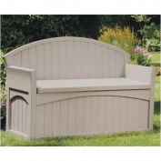 Suncast Ultimate 189.3l Resin Patio Storage Bench - PB6700