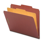 Nature Saver NAT01053 Classification Folders- Legal- 1 Partition- Red