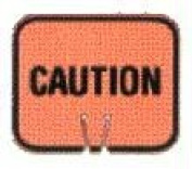 Olympia Sports SF057P Snap-On Cone Sign - CAUTION