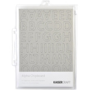 Chipboard Alphabet #3 21cm x 15cm Sheets 3/Pkg-.2220cm Uppercase, Lowercase & Numbers