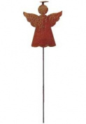 Village Wrought Iron RGS-73 Angel-Halo Rusted Garden Stake
