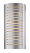 Access Lighting 53341-BS-OPL Krypton 16 2 Light Opal Glass Wall Fixture - Brushed Steel