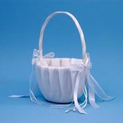 Beverly Clark A01115FB/WHT Simplicity Flower Girl Basket - White