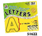 PACON CORPORATION PAC51622 4 SELF-ADHESIVE LETTERS YELLOW