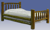 Montana Woodworks MWGCTB Glacier Country Twin King Log Bed