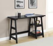 Convenience Concepts 090107 Trestle Desk - Black