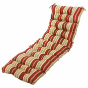 Greendale Home Fashions OC4804-ROMASTRIPE 72 in. Outdoor Chaise Lounger Cushion Roma Stripe