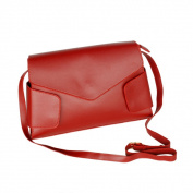 Blancho Bedding JY145-RED Retro Wine-colored Classic Double Handle Leatherette Handbag Shoulder Bag Satchel Bag Purse