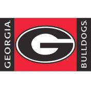 Bsi Products 97207 Car Flag W/Wall Brackett - Georgia Bulldogs