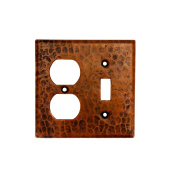 Premier Copper Products SCOT Combination Switchplate with 2 Hole Outlet and Single Toggle Switch