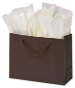 Bags & Bows by Deluxe 244M-090307-44 Chocolate Matte Laminated Euro-Shoppers - Case of 200