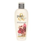 Pure & Basic Natural Bath and Body Wash Pomegranate Ginger 350ml