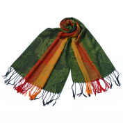 Blancho Bedding Pa-a82-6 Multi-Colors Rose & Paisley National Style Exquisite Soft Tassel Ends Pashmina/Shawl/Scarf