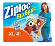 J Wax 65644 X-Large Ziploc Big Bag - Pack of 8