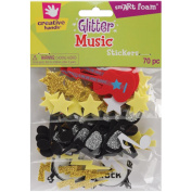 Fibre Craft 2161E Foam Glitter Stickers 70/Pkg