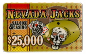 Brybelly Holdings PCB-2508 25000 Dollars Nevada Jack 40 Gramme Ceramic Poker Plaque