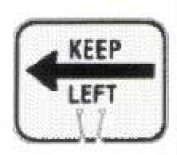 Olympia Sports SF054P Snap-On Cone Sign - KEEP LEFT
