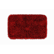 Garland Rug BEN-2440-04 Jazz 24 in. x 40 in. Shaggy Washable Nylon Rug Chili Pepper Red