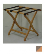 Wooden Mallet LR3-LOTAN Designer Curve Leg Luggage Rack in Light Oak with Tan Webbing - 3.75